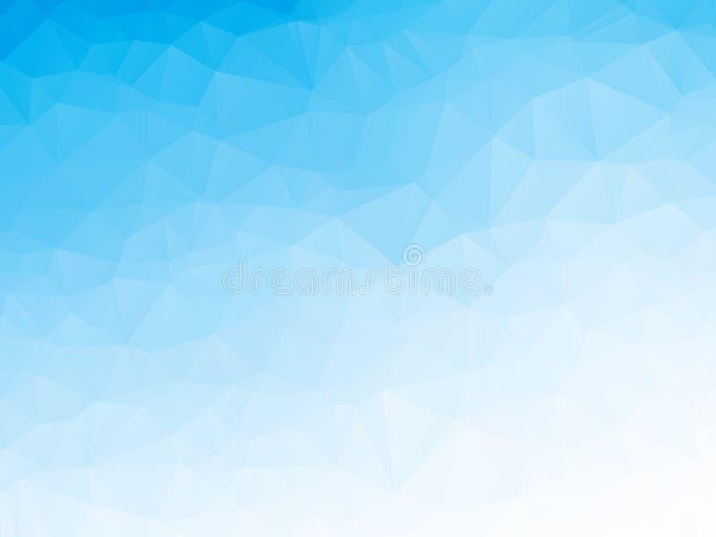 Geometrischer Vektorhintergrund des abstrakten blauen Schmelzwassers stock abbildung