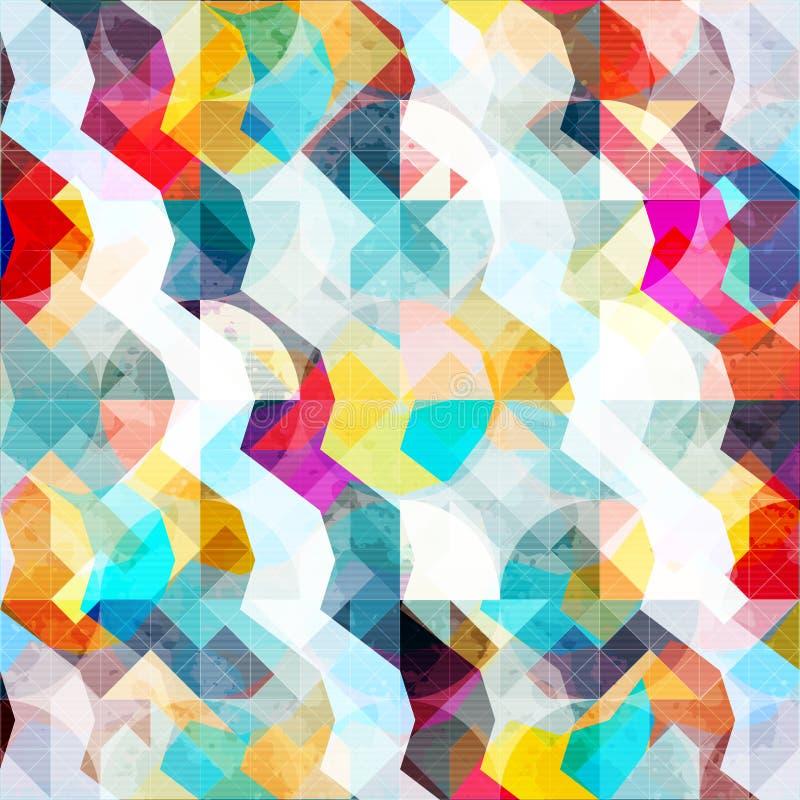 Geometrisches abstraktes Farbmuster in der Graffitiart Qualitätsvektorillustration für Ihr Design stock abbildung