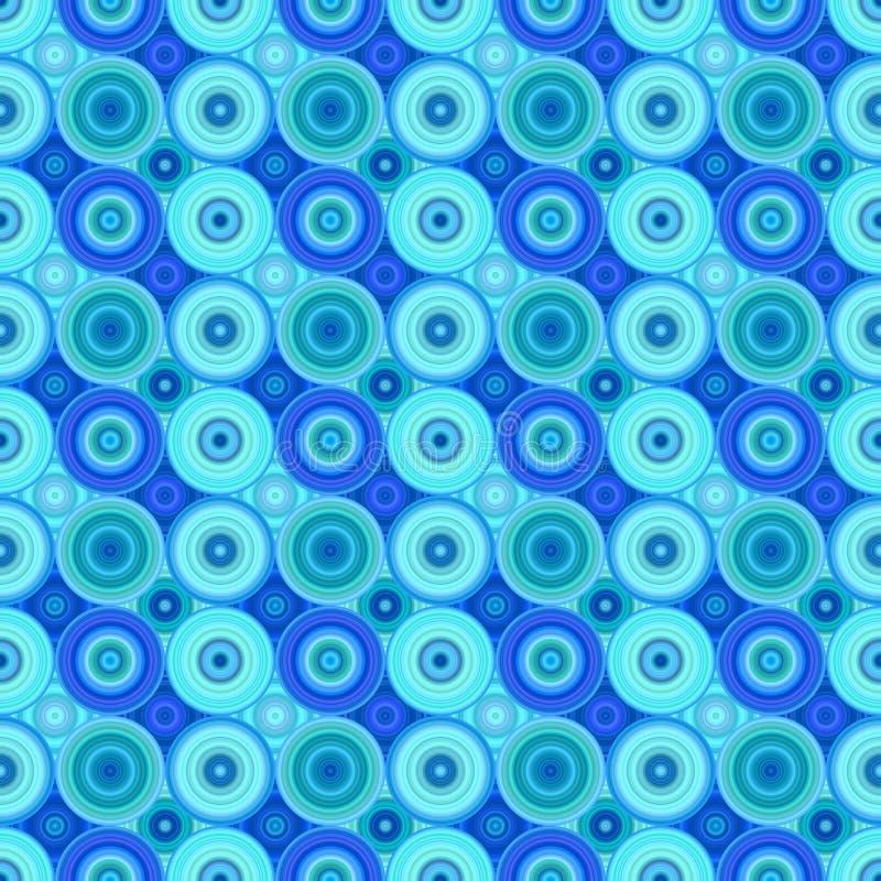 Geometrisches abstraktes Muster des konzentrischen Kreises - Vektorhintergrund lizenzfreie abbildung