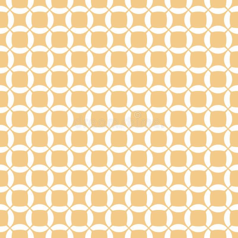 Geometrisches aus Weiden geflochtenes nahtloses Muster des Vektors Einfache Verzierung mit Gitter, Masche, Netz vektor abbildung