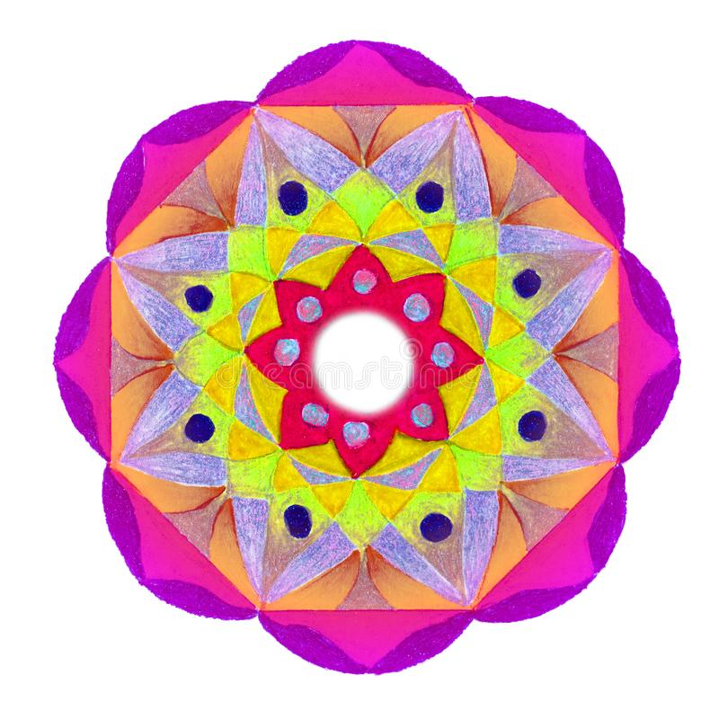 Geometrisches Blumenblatt geformtes Design vektor abbildung