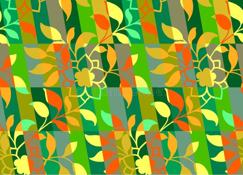 Geometrisches buntes mit Blumenmuster stock abbildung