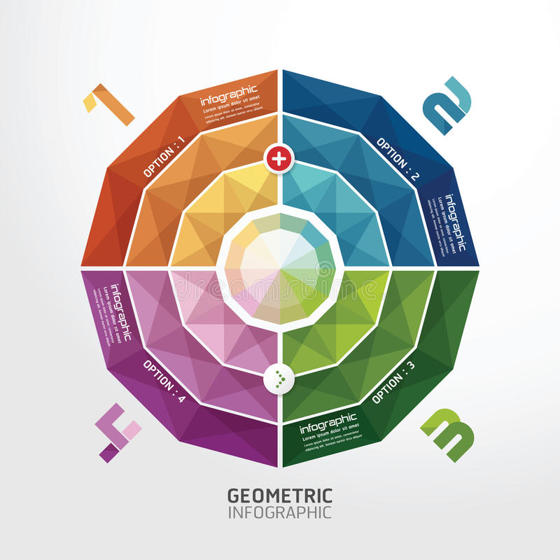 Geometrisches buntes modernes Design/kann für infographics verwendet werden lizenzfreie abbildung