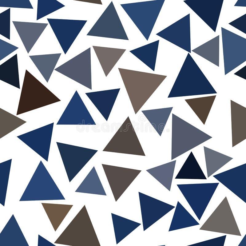Geometrisches Dreieckmuster der nahtlosen Hintergrundzusammenfassung für Design Oberfläche, Grafik, Tapete u. Abdeckung stock abbildung