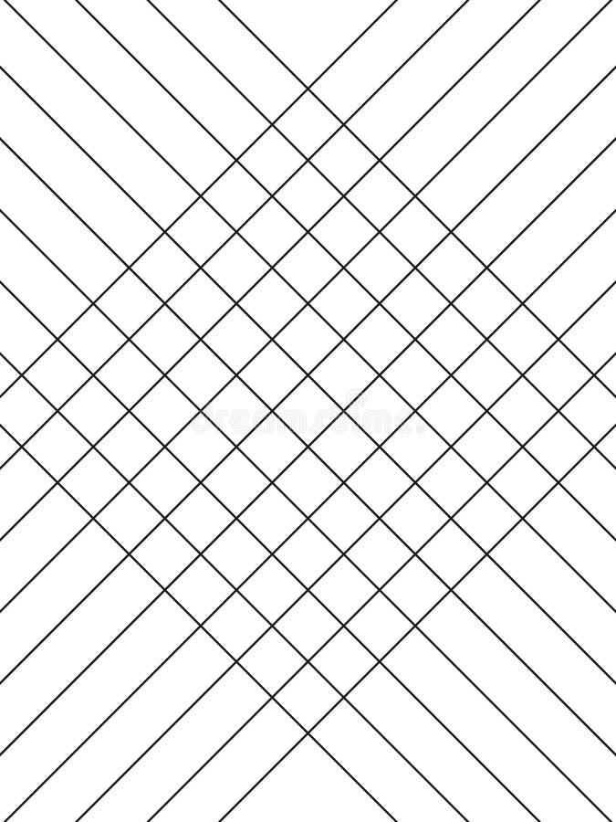 Geometrisches einfaches minimalistic Schwarzweiss-Muster, diagonale d?nne Linien Kann als Tapete, Hintergrund verwendet werden od stock abbildung