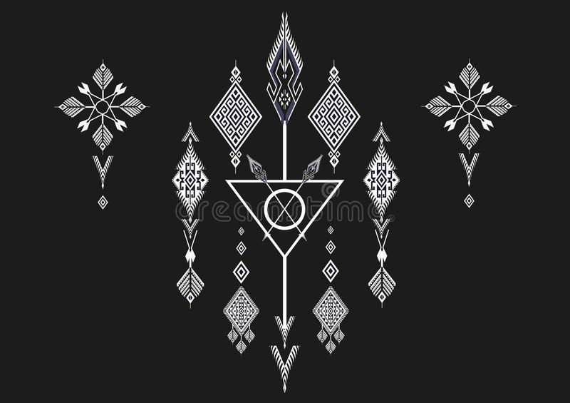 Geometrisches ethnisches Muster lizenzfreie abbildung