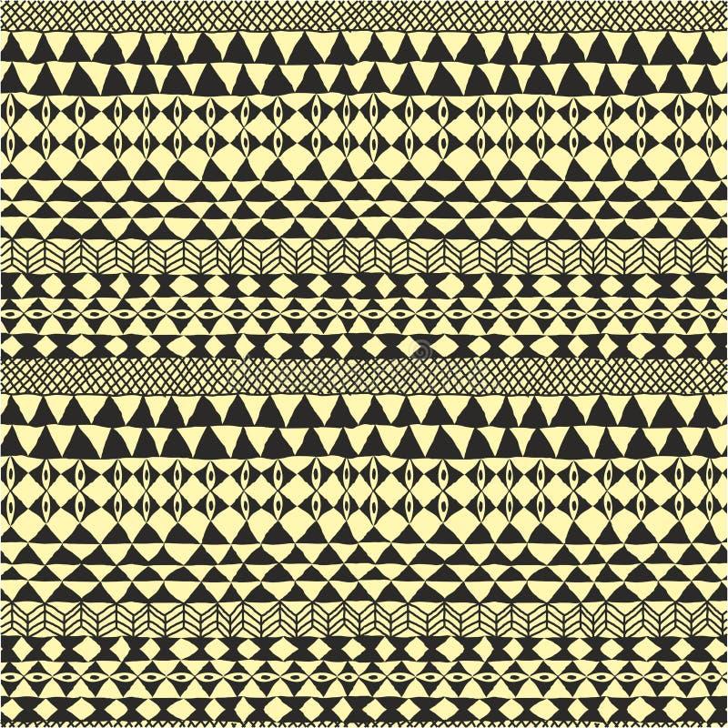 Geometrisches ethnisches Schwarzweiss-Muster vektor abbildung