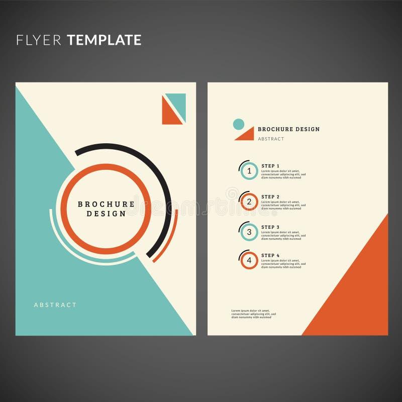 Geometrisches Fliegerdesign Fliegerschablone stockbild