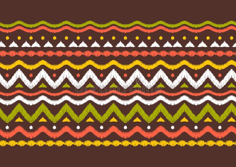 Geometrisches Folkloremuster Ikat stock abbildung
