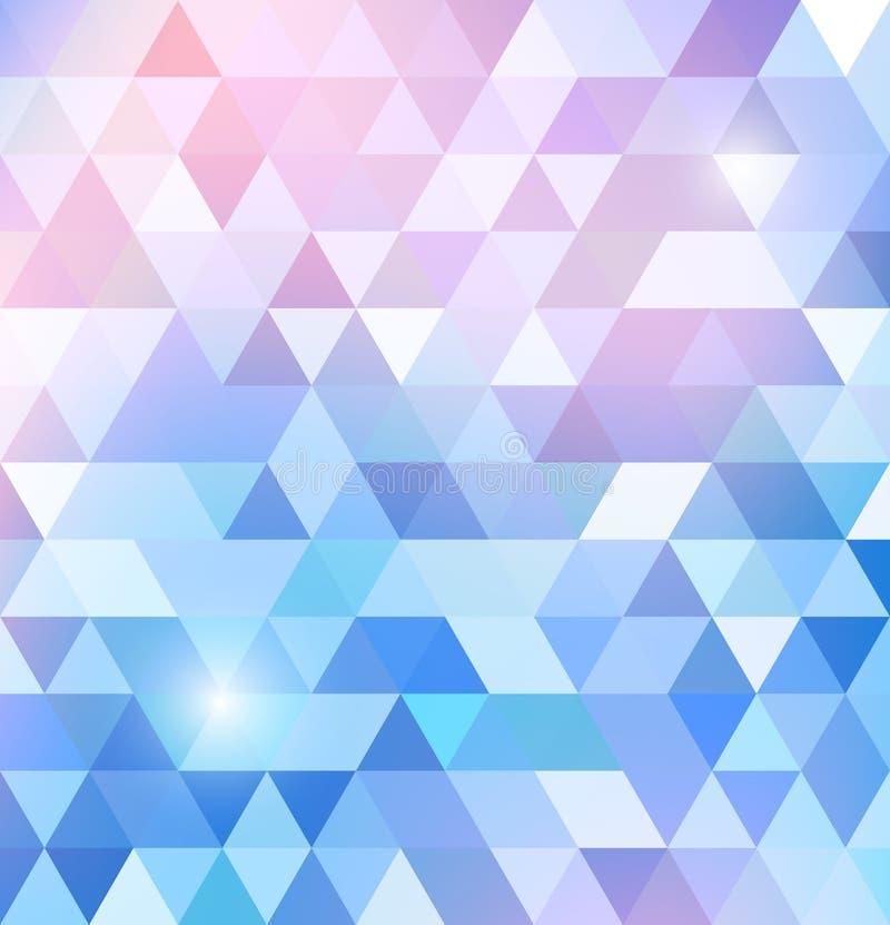Geometrisches glänzendes Muster mit Dreiecken stock abbildung