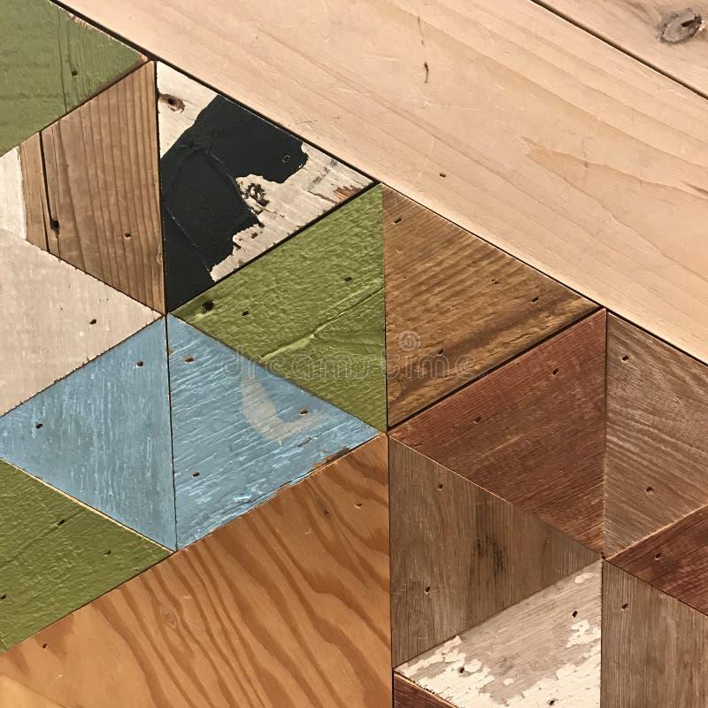 Geometrisches hölzernes Muster lizenzfreies stockbild