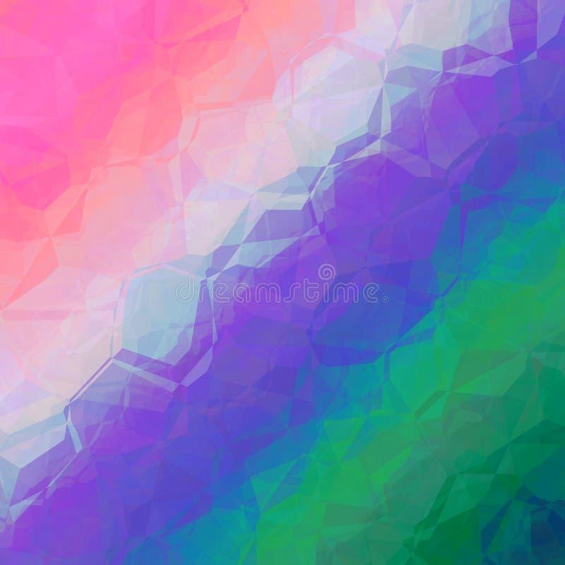 Geometrisches Hintergrunddesign der rosa violetten Zusammenfassung des blauen Grüns lizenzfreie abbildung