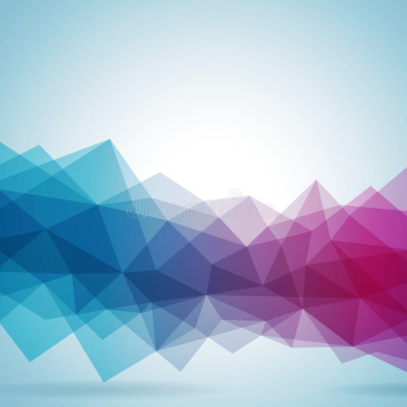 Geometrisches Hintergrunddesign des abstrakten Vektors lizenzfreie abbildung