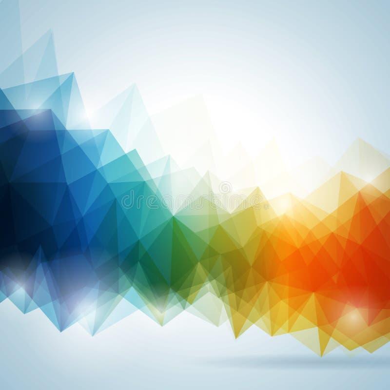 Geometrisches Hintergrunddesign des abstrakten Vektors. stock abbildung