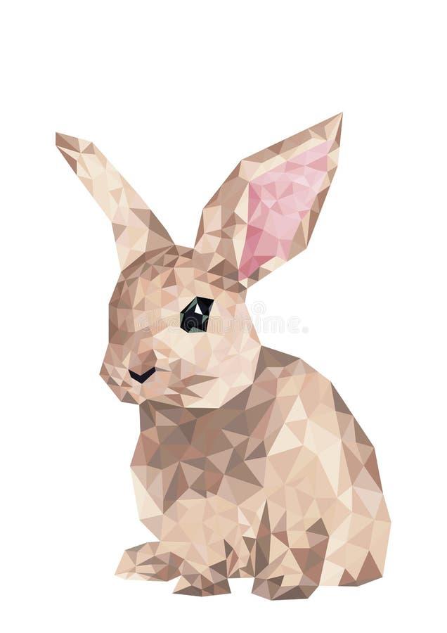 Geometrisches Kaninchenschattenbild in der Kreuzstichart lizenzfreie abbildung