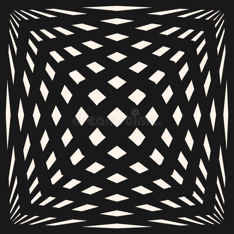 Geometrisches kariertes Muster des Vektors Nahtlose Beschaffenheit mit ausgedehnten Kubikformen vektor abbildung