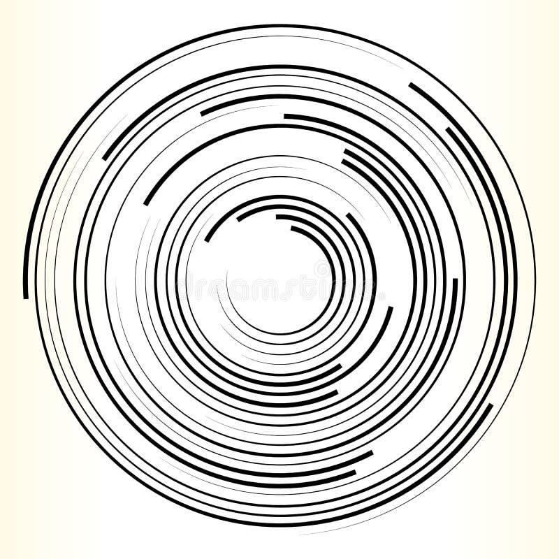 Geometrisches Kreiselement Abstrakte einfarbige Kreisform stock abbildung