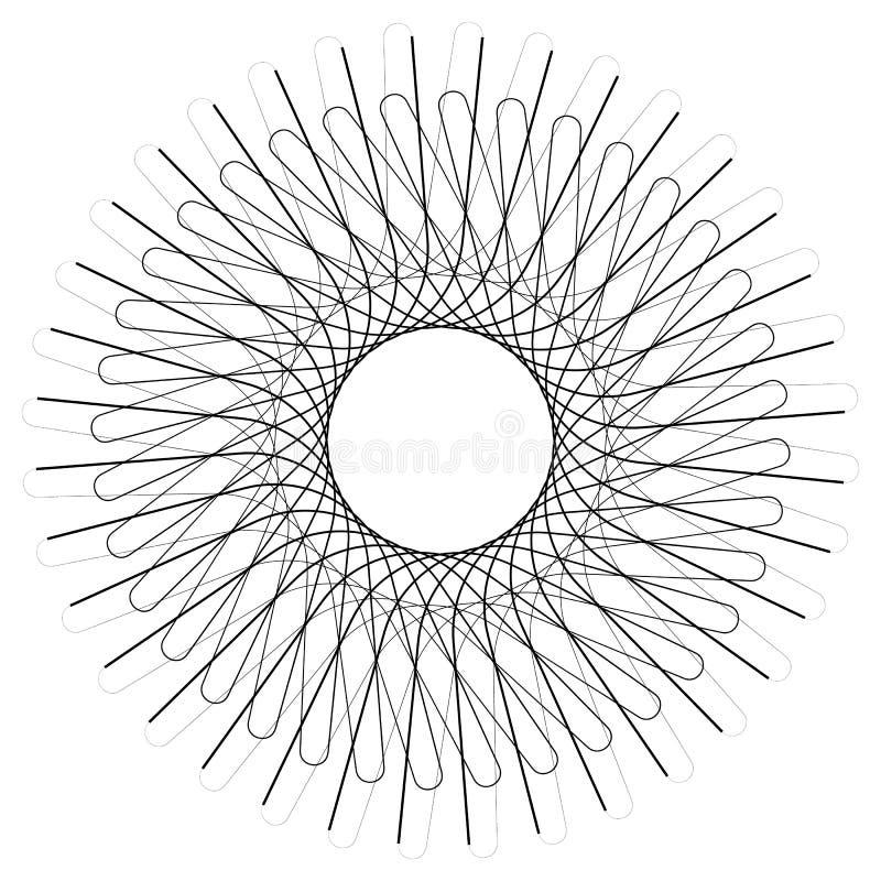 Geometrisches Kreiselement, nervöse des Kreismotivs gelegentliche, eckige Linie stock abbildung