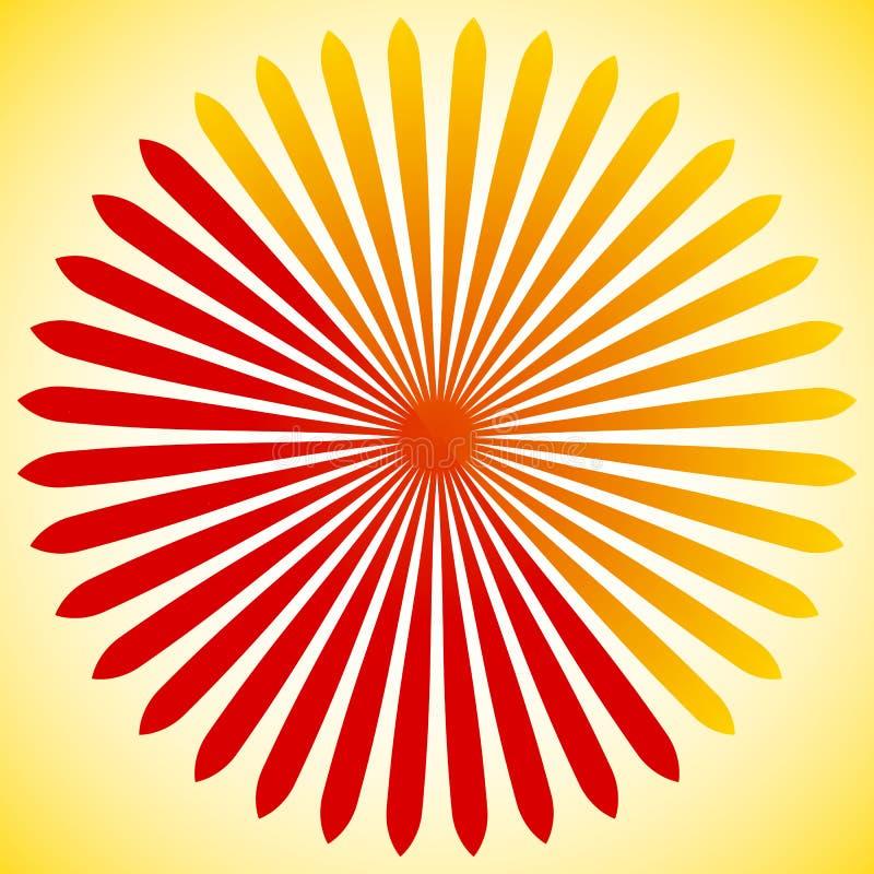 Geometrisches Kreiselement von Radiallinien Sprengung von Linien Mischen lizenzfreie abbildung