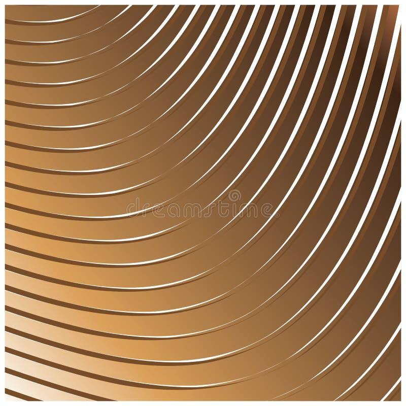 Geometrisches lineares Muster mit goldenem Blick stock abbildung