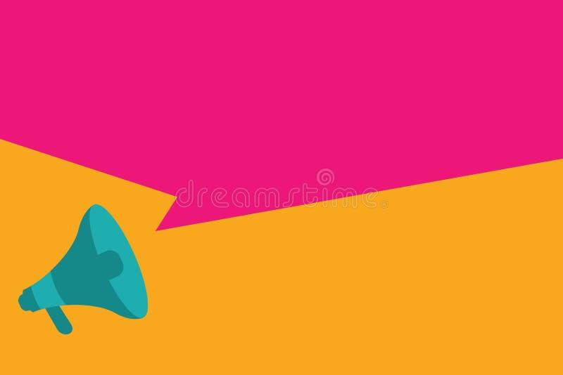Geometrisches Megaphon Element des flachen des Kopienraumes des Designgeschäft Vektor-Illustrationskonzeptes leeren Hintergrundes stock abbildung