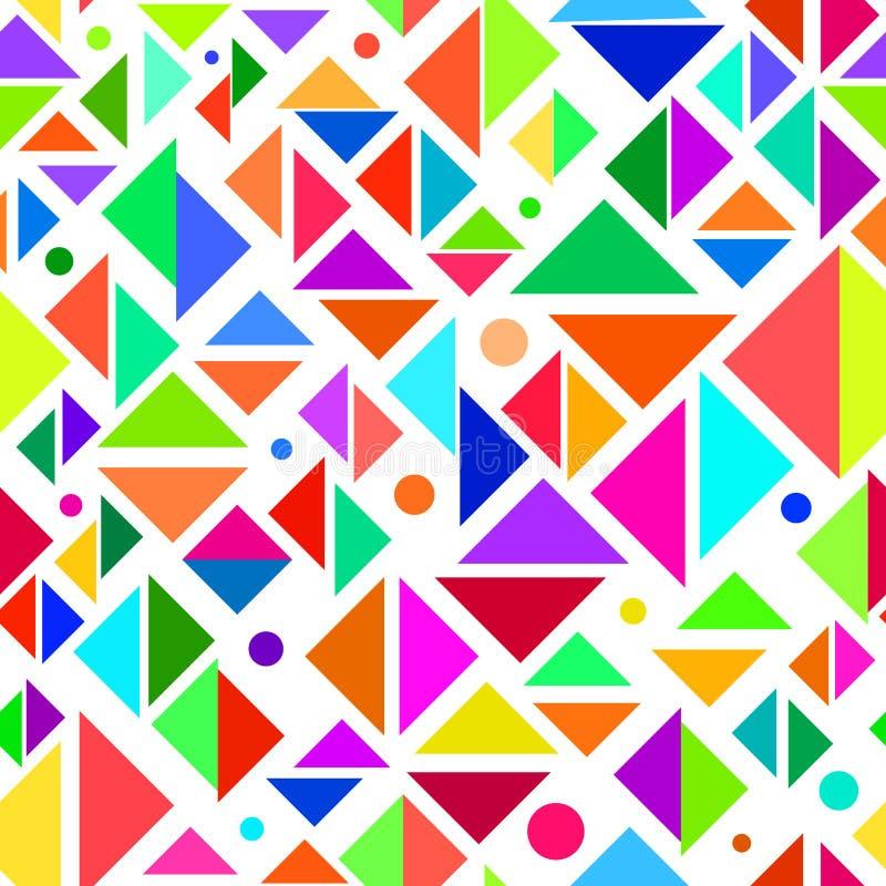 Geometrisches mehrfarbiges nahtloses Muster vektor abbildung