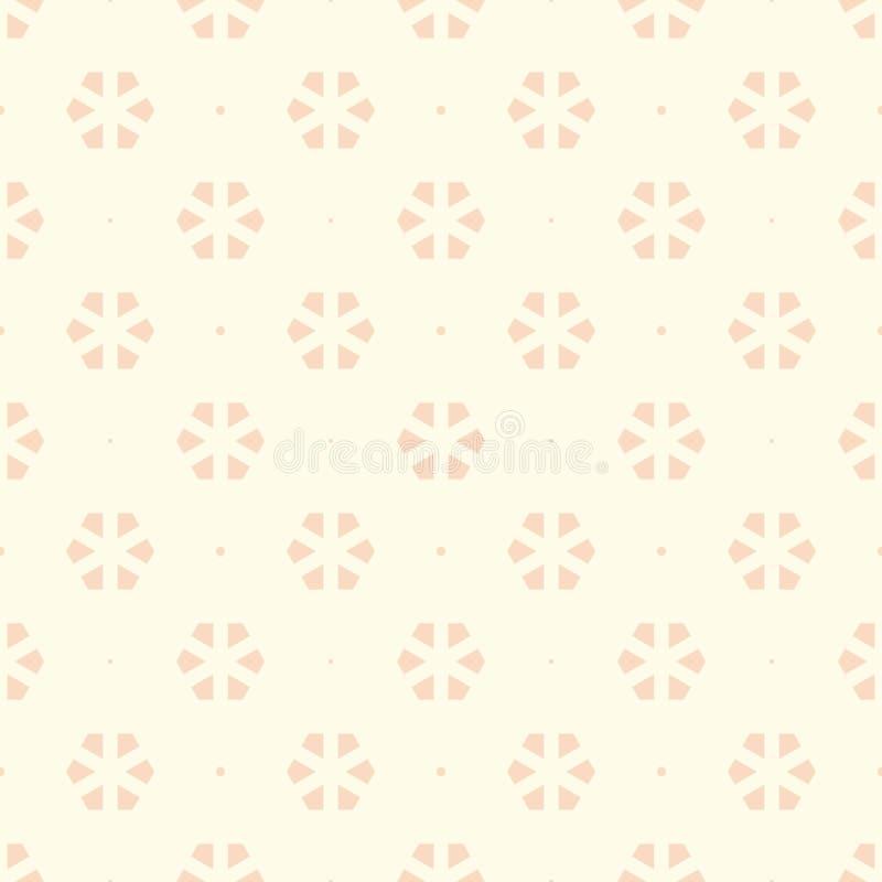 Geometrisches Muster in den warmen gelben Farben Hexagone und kleines circ stock abbildung