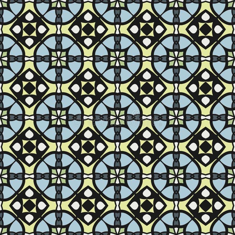 Geometrisches Muster der hellen Farbzusammenfassung, vector nahtloses lizenzfreie abbildung