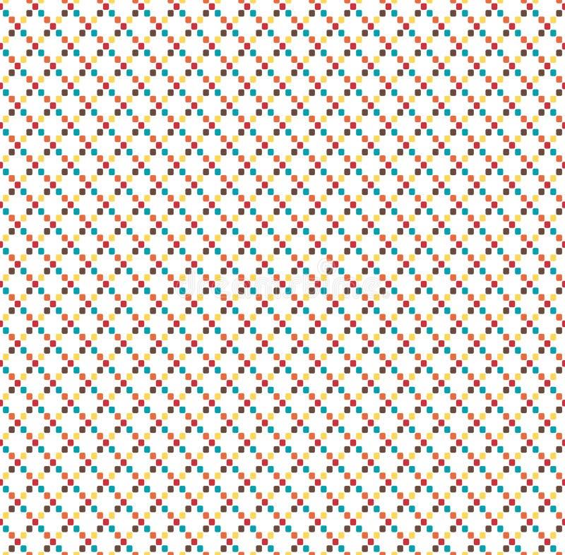 Geometrisches Muster der nahtlosen hellen Spaßzusammenfassung lokalisiert auf Weiß lizenzfreie abbildung