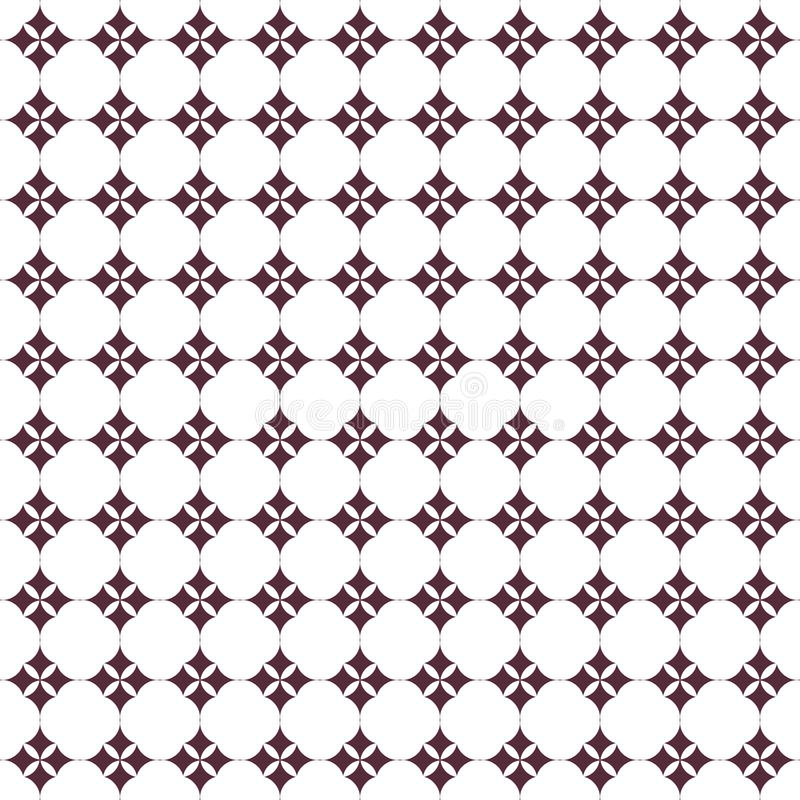 Geometrisches Muster in der Wiederholung Gewebedruck Nahtloser Hintergrund, Mosaikverzierung, ethnische Art stock abbildung