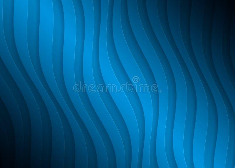 Geometrisches Muster des blauen Papiers, abstrakte Hintergrundschablone für Website, Fahne, Visitenkarte, Einladung lizenzfreie abbildung