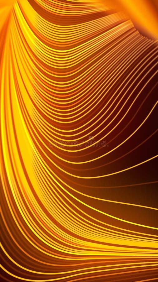 Geometrisches Muster des Frequenzbands Moderne Artabstraktion mit der Zusammensetzung gemacht von den verschiedenen farbigen Lini vektor abbildung