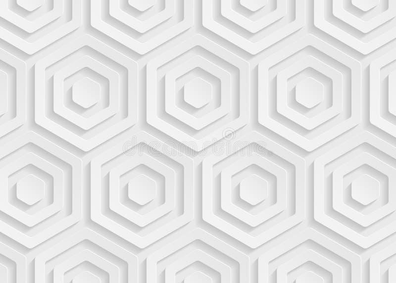 Geometrisches Muster des Weißbuches, abstrakte Hintergrundschablone für Website, Fahne, Visitenkarte, Einladung stock abbildung