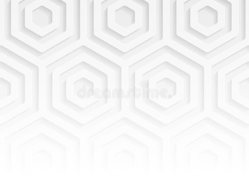 Geometrisches Muster des Weißbuches, abstrakte Hintergrundschablone für Website, Fahne, Visitenkarte, Einladung lizenzfreie abbildung