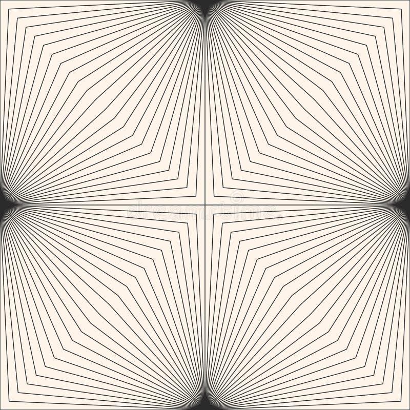 Geometrisches Muster mit dünnen schräg gelegenen Linien in der quadratischen Form, Streifen lizenzfreie abbildung