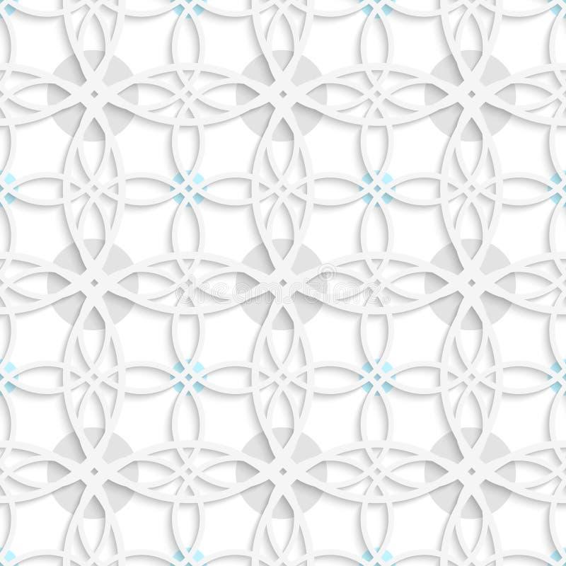 Geometrisches Muster mit den grauen und blauen Punkten vektor abbildung