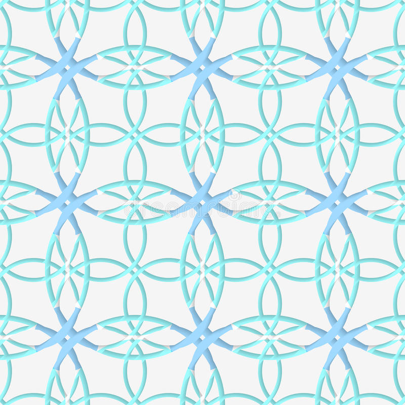 Geometrisches Muster mit Spitzeverzierung und -BLAU lizenzfreie abbildung