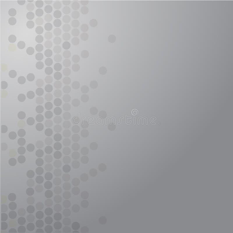 Geometrisches Muster Moderne Beschaffenheit in der silbernen Farbe Grau punktiertes Design Stilvolle Fliesen von Kreisen lizenzfreie abbildung