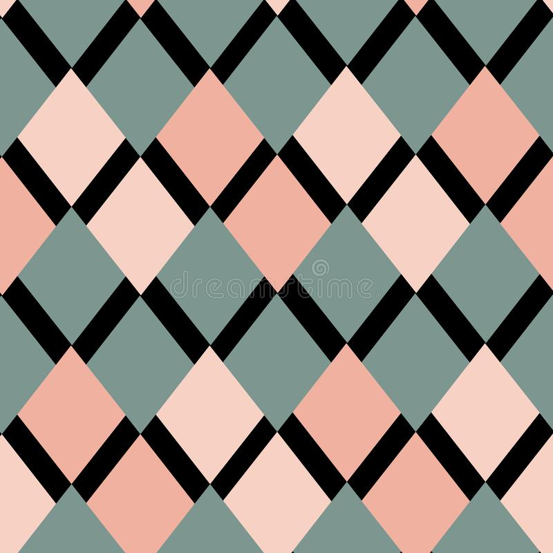Geometrisches Muster von Rauten stock abbildung