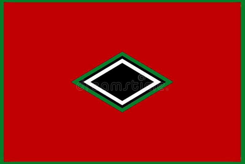 Geometrisches Muster: zentrierte schwarze, grüne und weiße Diamanten lizenzfreie abbildung