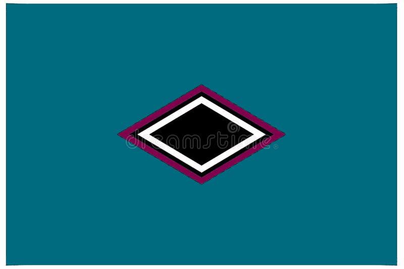 Geometrisches Muster: zentrierte schwarze, purpurrote und weiße Diamanten lizenzfreie abbildung