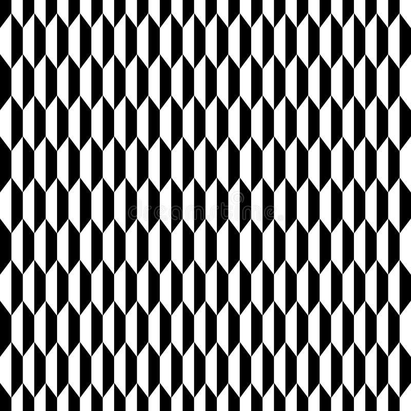 Geometrisches nahtloses einfarbiges Muster stock abbildung