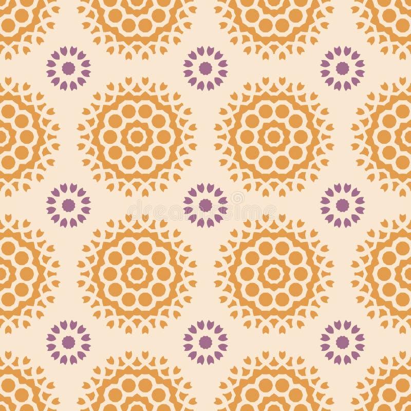 Geometrisches nahtloses mit Blumenmuster des Vektors lizenzfreie abbildung