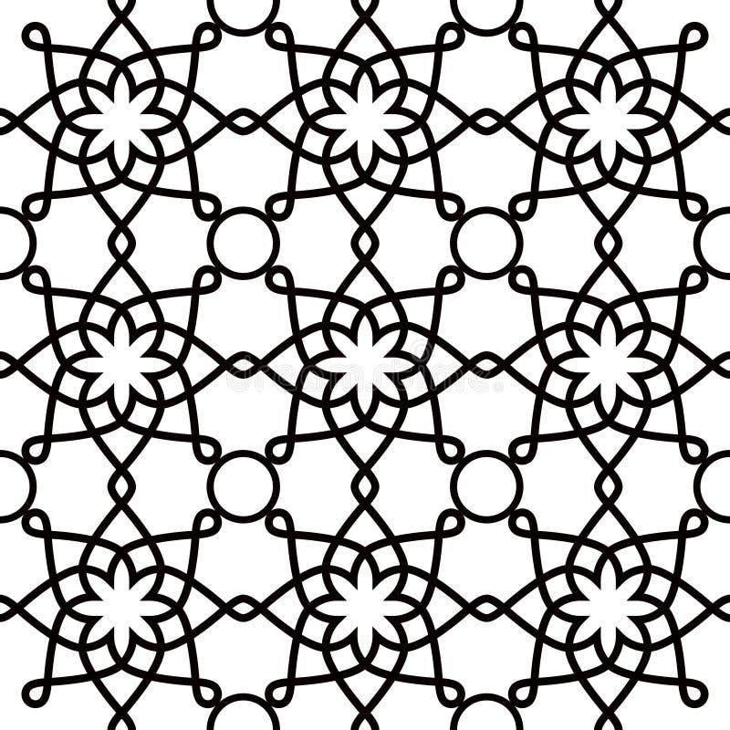geometrisches nahtloses muster, arabische verzierungsart