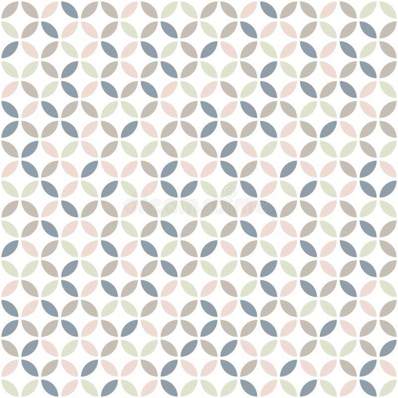Geometrisches nahtloses Muster in den Pastellfarben vektor abbildung