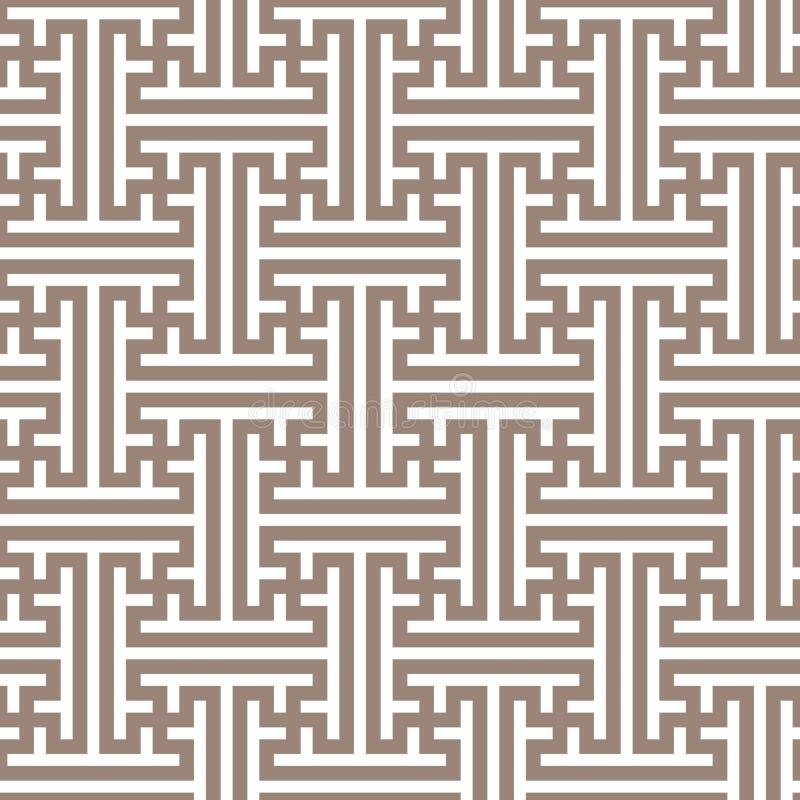 Geometrisches nahtloses Muster in der asiatischen Art stock abbildung