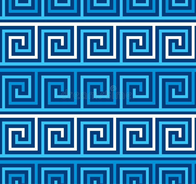 Geometrisches nahtloses Muster der griechischen Artwindung lizenzfreie abbildung