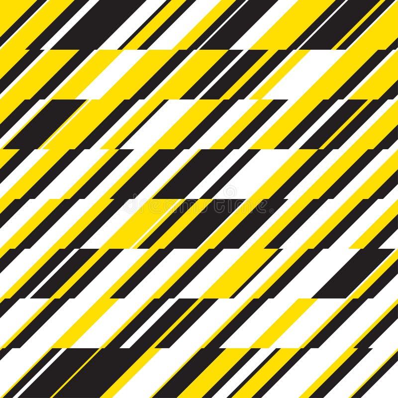 Geometrisches nahtloses Muster der modernen dynamischen Streifen lizenzfreie abbildung