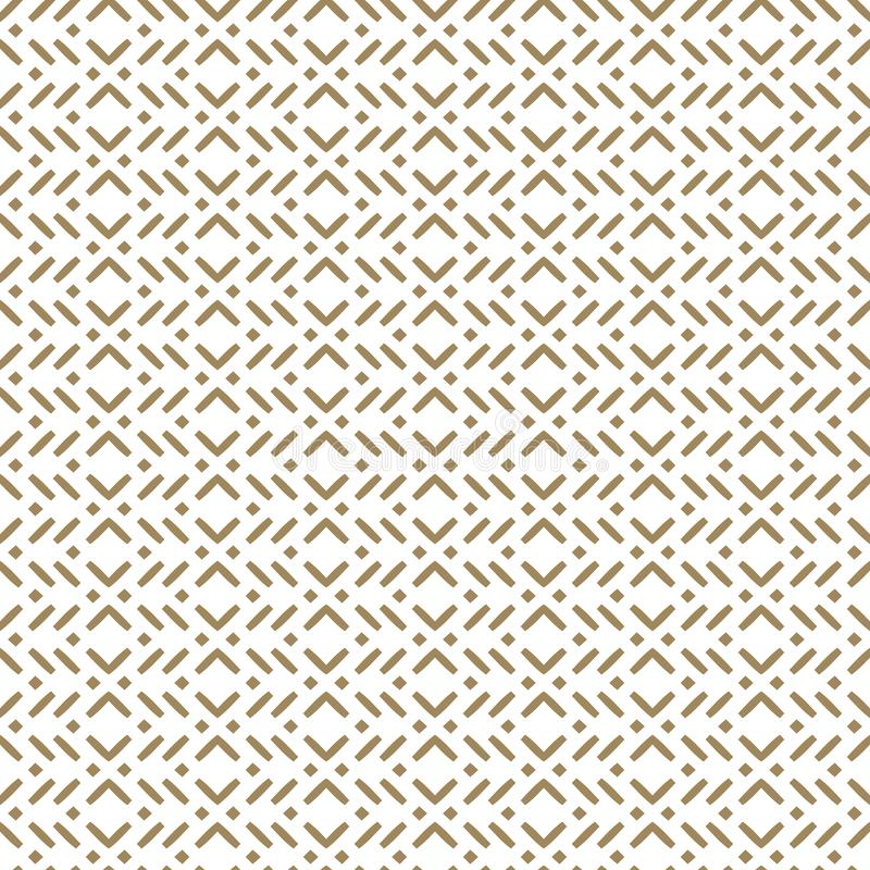 Geometrisches nahtloses Muster des Vektors in der asiatischen Art Gold und wei?e Beschaffenheit stock abbildung