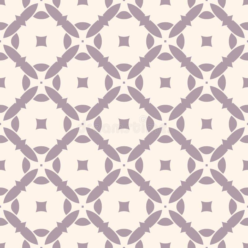Geometrisches nahtloses Muster des Vektors mit Mosaikfliesen latten vektor abbildung